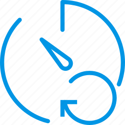 communication, interaction, interface, refresh, stopwatch icon