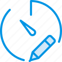 communication, edit, interaction, interface, stopwatch icon
