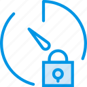 communication, interaction, interface, lock, stopwatch icon