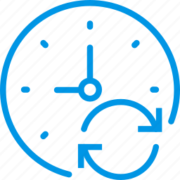 clock, communication, interaction, interface, sync icon
