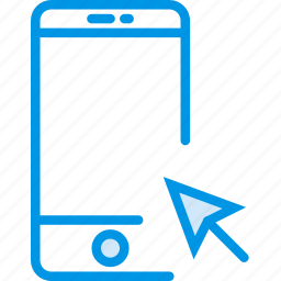 click, communication, interaction, interface, smartphone icon
