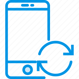 communication, interaction, interface, smartphone, sync icon