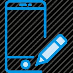 communication, edit, interaction, interface, smartphone icon