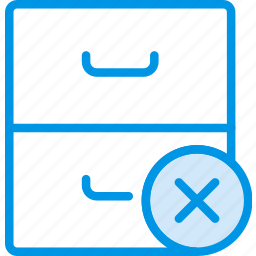 archive, communication, delete, interaction, interface icon