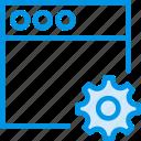 communication, interaction, interface, settings, window icon