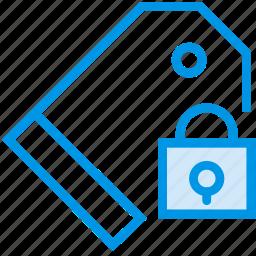communication, interaction, interface, lock, pricetag icon