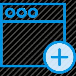 add, communication, interaction, interface, window icon