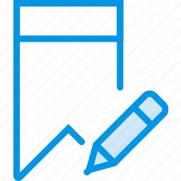 bookmark, communication, edit, interaction, interface icon