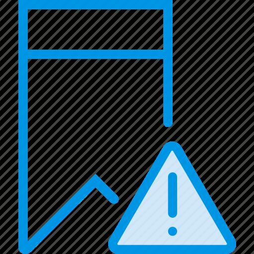 bookmark, communication, interaction, interface, warning icon