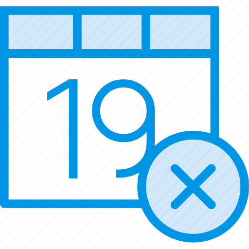 calendar, communication, delete, interaction, interface icon