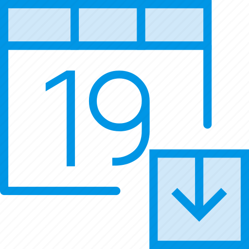 calendar, communication, download, interaction, interface icon
