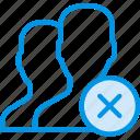 communication, delete, interaction, interface, profiles icon