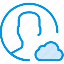 add, cloud, communication, interaction, interface, profile, to icon