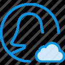 add, cloud, communication, interaction, interface, profile, to