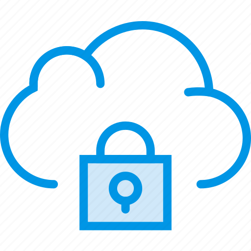 cloud, communication, interaction, interface, lock icon