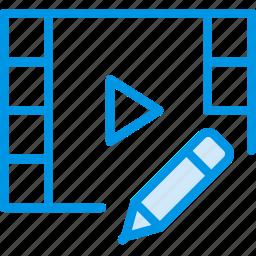 communication, edit, interaction, interface, video icon