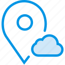 add, cloud, communication, interaction, interface, location, to icon