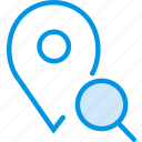 communication, interaction, interface, location, search icon