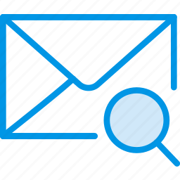 communication, interaction, interface, mail, search icon