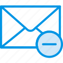 communication, interaction, interface, mail, substract icon