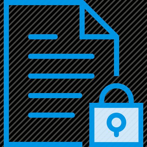 communication, file, interaction, interface, lock icon