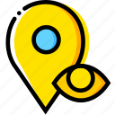 communication, hide, interaction, interface, location icon