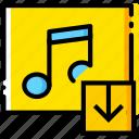 album, communication, download, interaction, interface