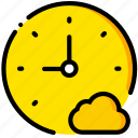 add, clock, cloud, communication, interaction, interface, to icon