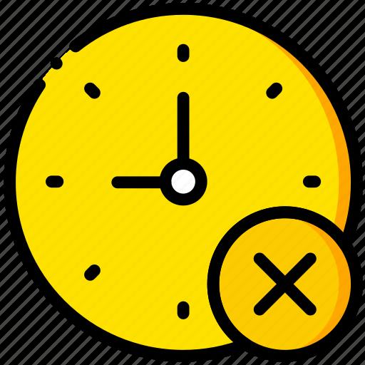 clock, communication, delete, interaction, interface icon
