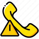 communication, interaction, interface, phonecall, warning icon