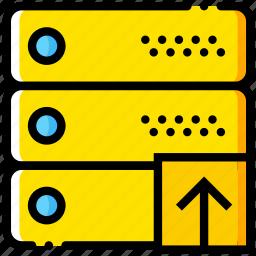 communication, interaction, interface, network, upload icon
