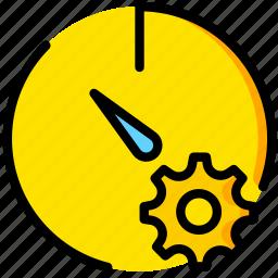 communication, interaction, interface, settings, stopwatch icon