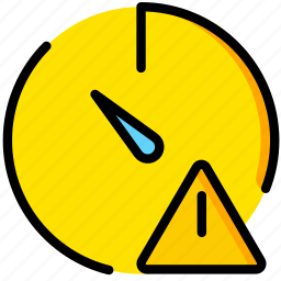 communication, interaction, interface, stopwatch, warning icon