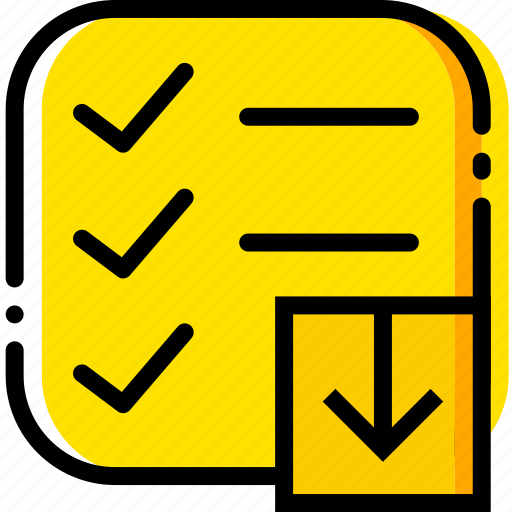 communication, do, download, interaction, interface, list, to icon