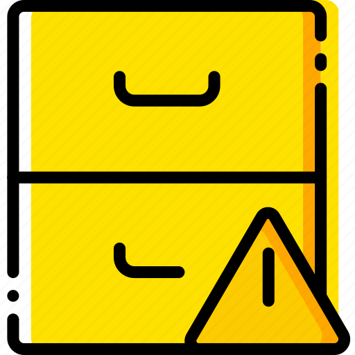 archive, communication, interaction, interface, warning icon