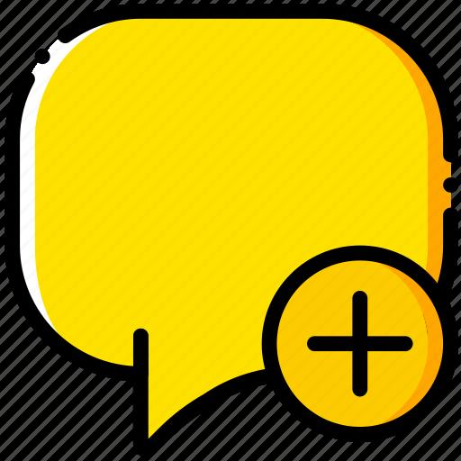add, communication, conversation, interaction, interface icon
