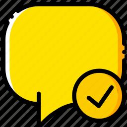 communication, conversation, interaction, interface, success icon