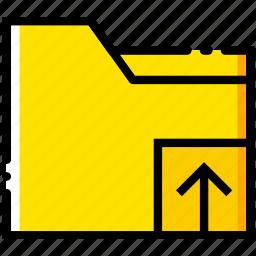 communication, folder, interaction, interface, upload icon
