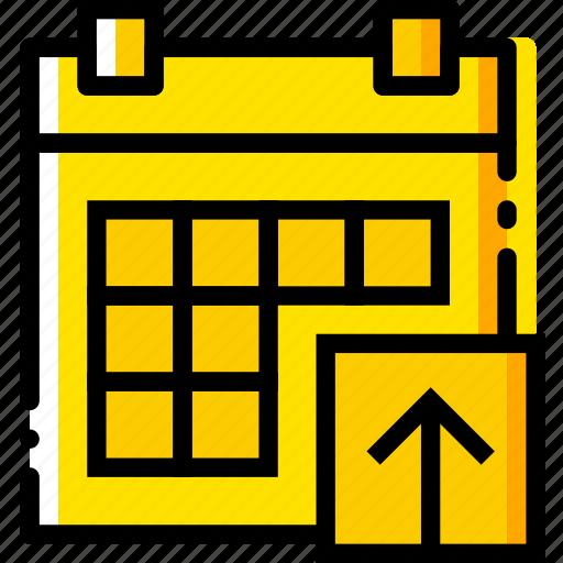 calendar, communication, interaction, interface, upload icon