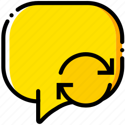 communication, conversation, interaction, interface, sync icon