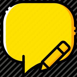 communication, conversation, edit, interaction, interface icon