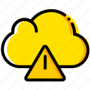 cloud, communication, interaction, interface, warning icon