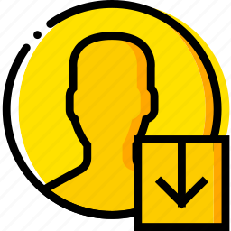 communication, download, interaction, interface, profile icon