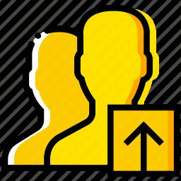 communication, interaction, interface, profiles, upload icon