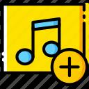 add, album, communication, interaction, interface
