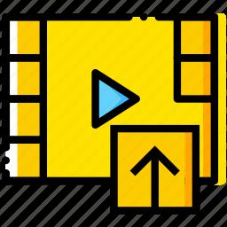 communication, interaction, interface, upload, video icon