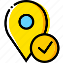communication, interaction, interface, location, success icon