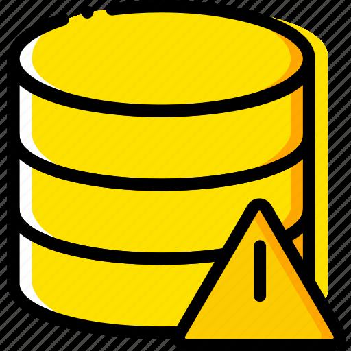 communication, database, interaction, interface, warning icon