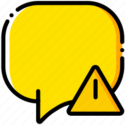 communication, conversation, interaction, interface, warning icon