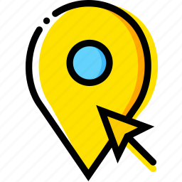 click, communication, interaction, interface, location icon